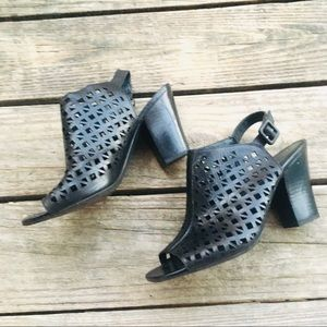 Franco Sarto Block bootie sandals